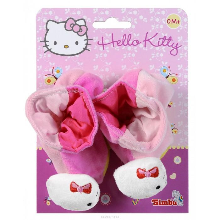 Simba Тапочки-погремушки Hello Kitty 13 смТапочки-погремушки Hello Kitty 13 смSimba Тапочки-погремушки Hello Kitty для малышей выполнены из мягкого и приятного материала, украшенного изображением милой кошечки Hello Kitty. Внутри тапочек спрятаны звонкие погремушки.  Нося такие тапочки, малыш сможет развить мелкую моторику пальцев ног, цветовое восприятие, тактильные ощущения, а также развить зрение и мозговую деятельность. При ходьбе тапочки будут издавать не пугающий мягкий звук, чтобы малышу не было времени скучать.<br>