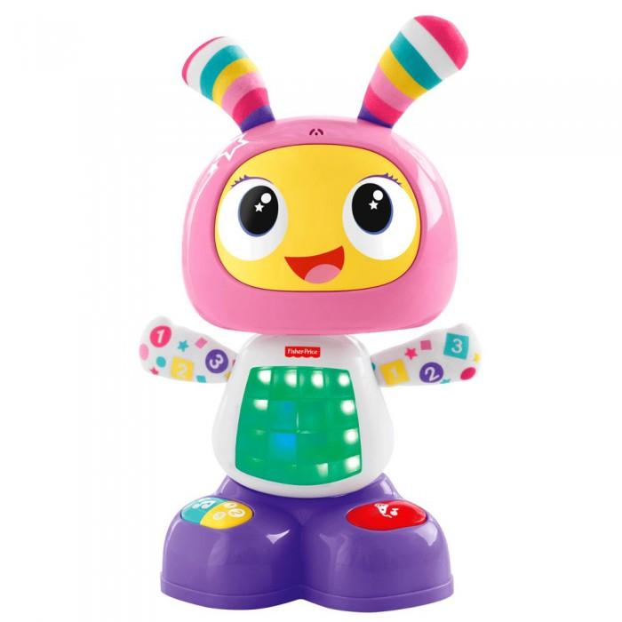 Интерактивная игрушка Fisher Price Mattel Сестричка робота Бибо - БибельMattel Сестричка робота Бибо - БибельСестричка робота Бибо по имени Бибель - обучающая интерактивная игрушка, которая поможет с интересом и невероятной пользой провести время вашему малышу!  Интерактивная обучающая игрушка сможет развлечь малыша: достаточно лишь нажать на кнопочки, расположенные на животе или ножках, чтобы активировать один из любопытных режимов.   С Бибель малыш сможет потанцевать, пытаясь повторить движения робота, спеть песенку, научится считать, читать, а также делать другие забавные вещи!  Голова сестрички робота Бибо напоминает монитор, на экране которого изображена веселая физиономия, а большие уши выполнены в виде разноцветных антенн.  На ручках робота видны различные цифры, а на туловище и ножках расположены кнопки, активирующие те или иные режимы игры.  Возможность записи фраз, из которых потом Бибель будет составлять смешные песни!  Помимо звукового сопровождения у интерактивного робота от Fisher-Price имеются еще и световые эффекты.  Батарейки 4 х АА (демонстртационные в комплекте).<br>