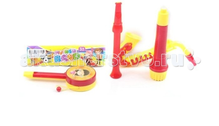Музыкальная игрушка Shantou Gepai Набор музыкальных инструментов 4 предмета