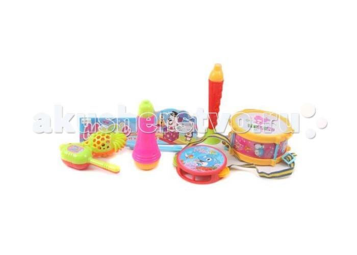 Музыкальная игрушка Shantou Gepai Набор музыкальных инструментов, 6 предметов
