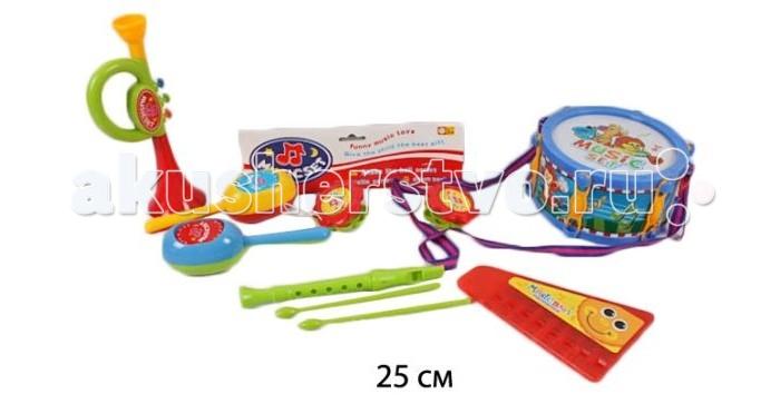 Музыкальная игрушка Shantou Gepai Набор музыкальных инструментов, 4 предмета