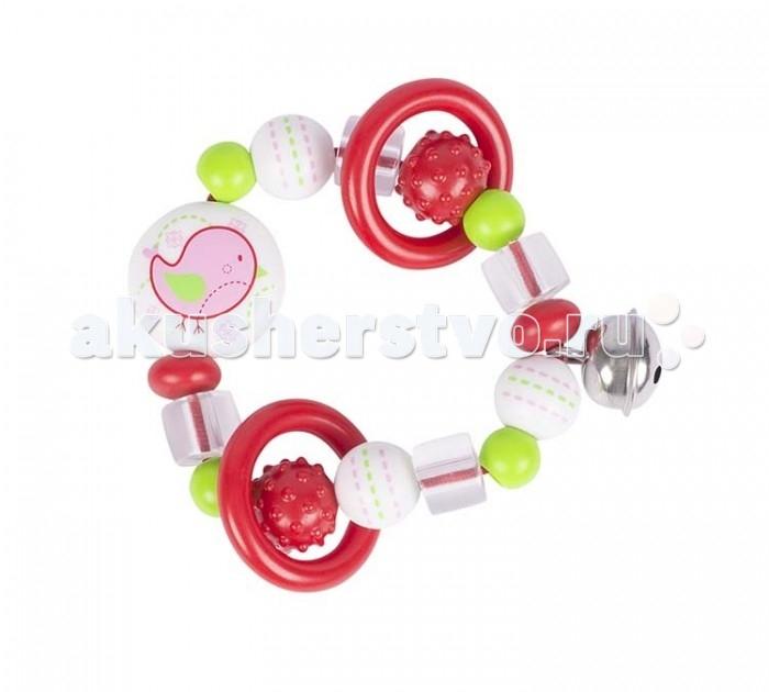 Развивающая игрушка Heimess Кольцо эластик ПтичкаКольцо эластик ПтичкаРазвивающая игрушка Heimess Кольцо эластик Птичка изготовлена из особо прочного безопасного высококачественного пластика. Этот материал устойчив к влаге, изделия из него можно часто мыть (при температуре до 60 градусов).  Особенности: Отдельные элементы кольца собраны на очень прочный эластичный шнур. Игрушки этой серии, отличающиеся рельефной фактурой и яркой устойчивой  расцветкой, прекрасно подходят в качестве прорезывателей.  Размеры: 7.5 см<br>