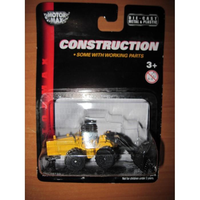 MotorMax Строительная техника - Трактор (Масштаб: 1:64)Строительная техника - Трактор (Масштаб: 1:64)Игрушечная модель трактора из серии Строительная техника - станет отличным подарком для любого мальчишки! Игрушка изготовлена из высококачественного материала.  Основные характеристики:   Размер упаковки: 10 x 4 x 15 см Масштаб: 1:64 Вес: 0,07 кг<br>