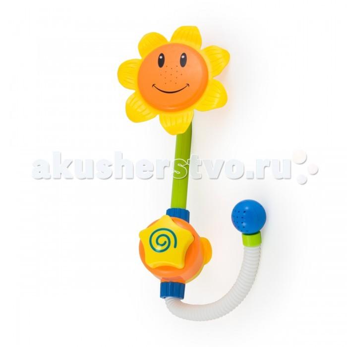 Pic`n Mix Игрушка для ванны ПодсолнухИгрушка для ванны ПодсолнухPic`n Mix Игрушка для ванны Подсолнух. Интерактивная механическая игрушка не требует батареек. Цветочек-душ легко крепится на стенку ванны при помощи присосок.Для включения, необходимо только нажать кнопку-звездочку на основании цветка.   Игрушка учит пониманию причинно-следственной связи, помогает тренировке координации движений и восприятию формы и цвета.<br>