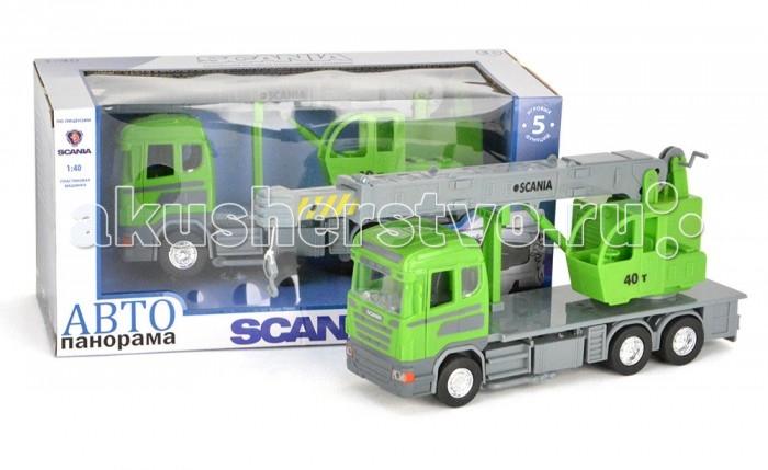 Автопанорама Инерционная машина Scania Автокран 1:40Инерционная машина Scania Автокран 1:40Модель Автопанорама Scania Автокран  выглядит идентично настоящей технике, функционален и создан в масштабе 1:40. Игрушка позволит мальчику устроить реалистичную игру и спасать от пожара. Двери водительской кабины открываются, есть свет фар и звук мотора. Платформа поворачивается на 360 градусов, а лестница выдвигается. Кроме того, игрушка оснащена инерционным механизмом, работающим по всем известному принципу – прижать к полу, откатить назад, отпустить.   Увлекательная игра в машинку не только развлекает ребёнка, но и вырабатывает такие практические качества, как ловкость и слаженность движений рук, сноровку и координацию, развивает мелкую моторику пальцев рук, заставляет подвигаться и пофантазировать.  Возраст: от 3 лет  Размер: 28 х 14 х 12 см<br>