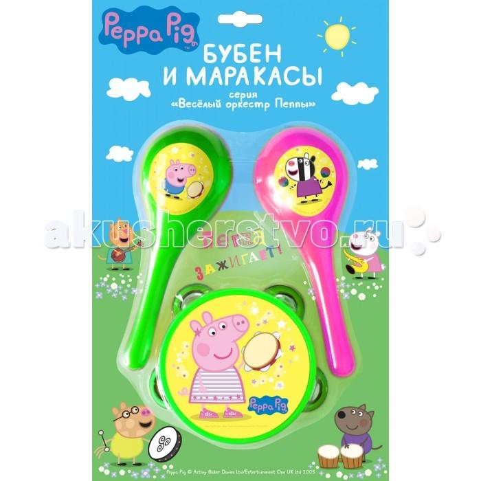Музыкальная игрушка Peppa Pig Набор музыкальных инструментов Бубен и маракасы