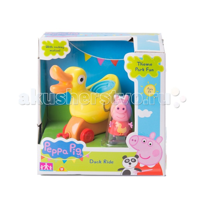 Каталка-игрушка Peppa Pig Уточка с фигурками 31010