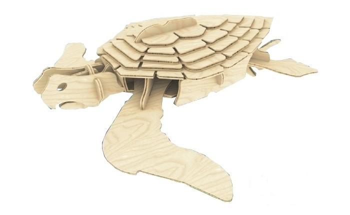 Конструктор МДИ Морская черепахаМорская черепахаМДИ Морская черепаха Е009                       Сборная модель морской черепашки собирается из деревянных деталей. В собранном виде черепаху можно проклеить, чтобы все детали не шевелились и не сдвигались. Игрушку можно раскрасить по своему усмотрению, а после покрыть лаком, чтобы придать ей блеск и более презентабельный вид. Готовую модель можно использовать в качестве подарка для близкого человека.<br>