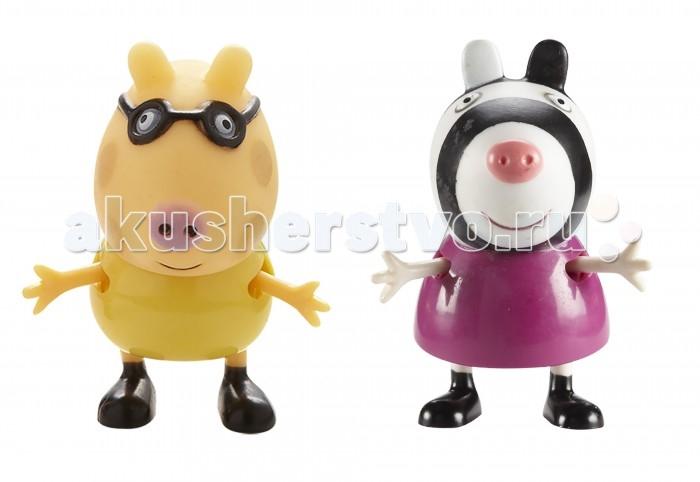 Peppa Pig Игровые фигурки Педро и ЗоиИгровые фигурки Педро и ЗоиPeppa Pig Игровые фигурки Педро и Зои – это отличная возможность для малышей погрузиться в мир приключений любимых персонажей.  С забавными игрушками из серии «Peppa Pig» веселые мультфильмы оживут прямо у вас дома, а малыши станут участниками увлекательных приключений Пеппы и ее друзей.  Особенности:  2 фигурки, которые могут сидеть, стоять, двигать ручками и ножками. Средняя высота фигурок – 5 см.  Игрушки изготовлены из безопасного пластика.  Товар сертифицирован.<br>