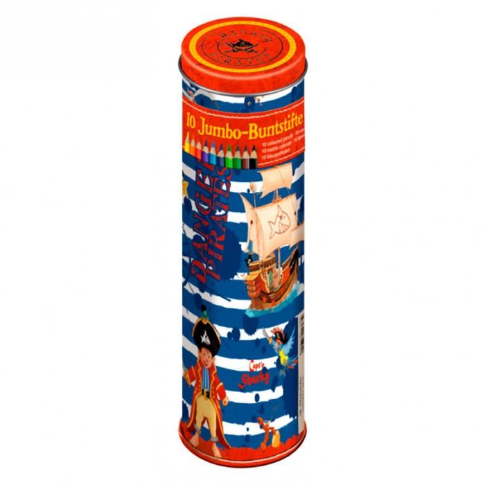 Spiegelburg Набор цветных карандашей Captn Sharky 11363Набор цветных карандашей Captn Sharky 11363Spiegelburg Набор цветных карандашей Captn Sharky 11363 порадуют каждую творческую натуру и помогут проявить себя на уроках в школе.   Компактный набор из серии Captn Sharky представляет оригинальные цветные карандаши, которые помогут создать красочное изображение, которое порадует детей и их родителей.   В наборе представлено 10 карандашей различных цветов и оттенков. Карандаши  упакованы в красочную металлическую коробку, которую можно брать с собой в школу или путешествия.<br>