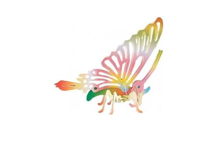 Конструктор МДИ Бабочка 2 серия Е цветнаяБабочка 2 серия Е цветнаяМДИ Бабочка 2 серия Е цветная Е022с                      Сборная модель бабочки собирается из легко стыкуемых деревянных деталей. Модель уже имеет свой окрас, поэтому игрушку остается только правильно собрать и при желании аккуратно проклеить для лучшей устойчивости. Бабочка принесет мир и гармонию в любой дом и станет отличным подарком для друзей, близких или знакомых.  Размер пластины: 23 х 18.5 х 0.3 см.<br>