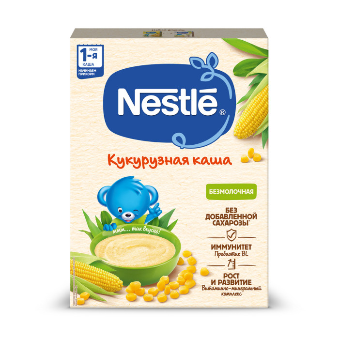 Nestle Безмолочная Кукурузная каша с 4 мес. 200 г