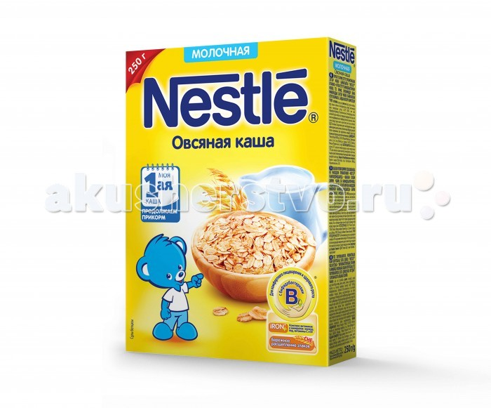 Nestle Молочная Овсяная каша с 4 мес. 250 г