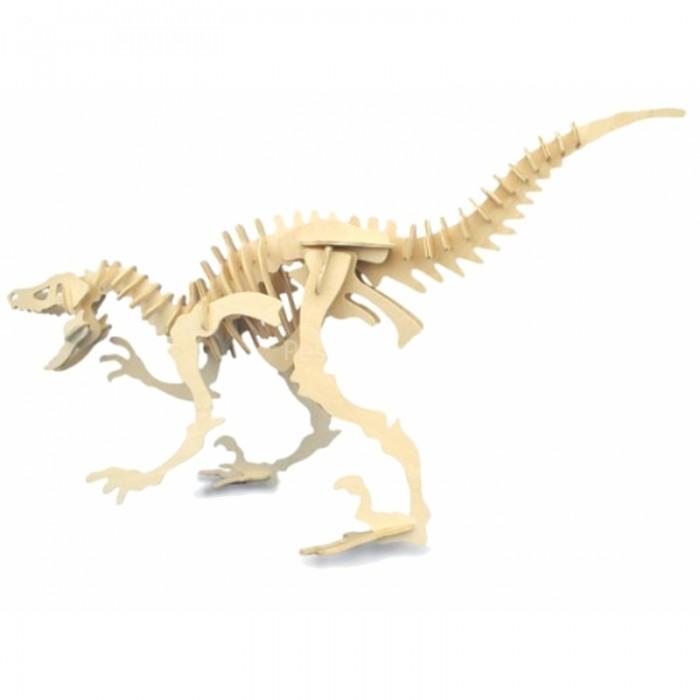 Конструктор МДИ ВелоцирапторВелоцирапторМДИ Велоцираптор Ж004                       Сборная цветная деревянная модель Велоцираптор из серии Динозавры представляет собой сборную модель скелета одного из представителей вида динозавров, ставшего прототипом Динобота – трансформера из мультипликационного сериала Битва Зверей. Детали изготовлены из древесной фанеры и отличаются большой реалистичностью. Сборка модели поможет ребенку познакомиться с анатомией животных и историей развития животного мира Земли.<br>