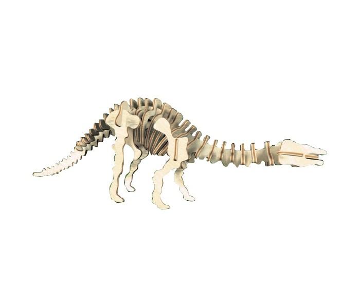 Конструктор МДИ Апатозавр серия ЖАпатозавр серия ЖМДИ Апатозавр серия Ж Ж005                       Апатозавр - представитель семейства травоядных великанов. Отличительными чертами были длинный хвост и шея, что прекрасно показано на этой деревянной модели. Настоящий динозавр был длиной 23 метра и весил около 20 тонн. Эта же модель длиной в несколько десятков сантиметров и весит сотни грамм, но все же хоть немного передает величие этого гиганта, некогда ступавшего своей огромной ногой по доисторической земле.<br>