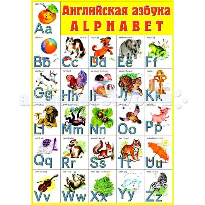 ДетИздат Плакат - Английская азбука