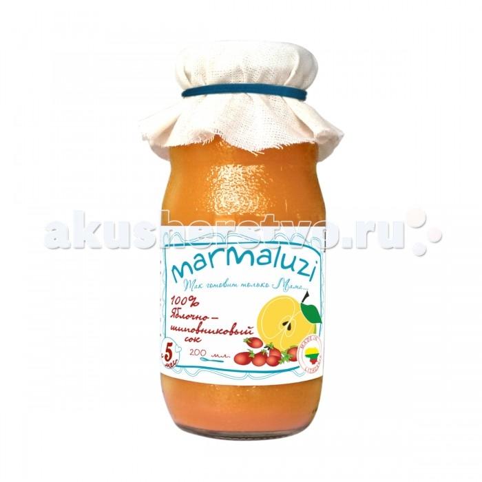 Marmaluzi Сок Яблочно-шиповниковый с 5 мес. 200 мл