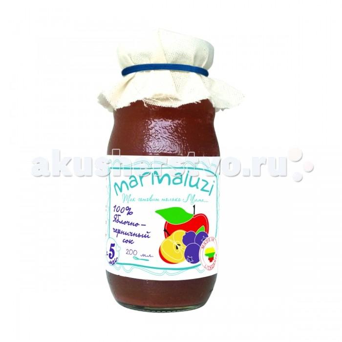 Marmaluzi Сок Яблочно-черничный с 5 мес. 200 мл