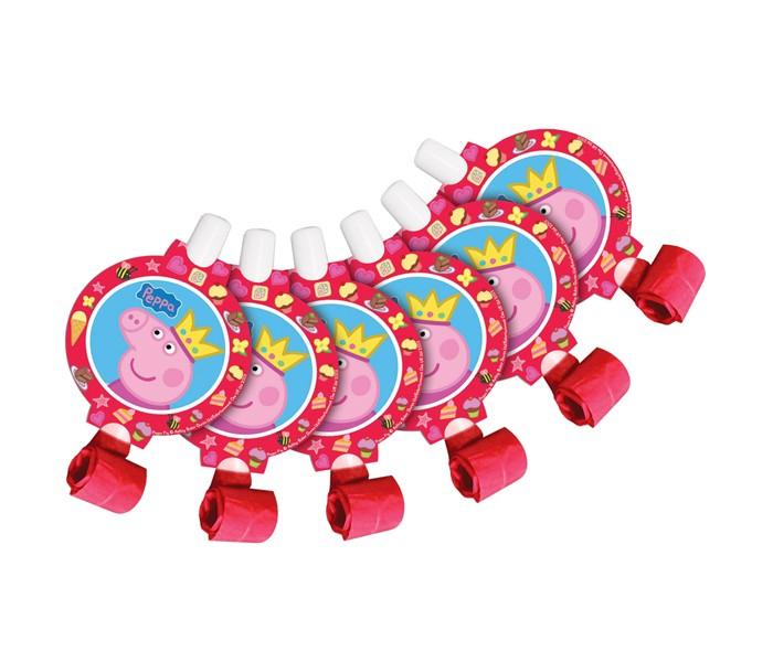 Peppa Pig Язычки Пеппа-принцесса 6 шт.Язычки Пеппа-принцесса 6 шт.Peppa Pig Язычки Пеппа-принцесса   Каждый малыш ждет с нетерпением приближающийся праздник, ведь этот день наполнен множеством самых разных развлечений. И 6 бумажных язычков «Пеппа-принцесса» ТМ «Свинка Пеппа» здесь весьма кстати! Устраивая игры и соревнования, ребята будут не только веселиться от души, но и развивать дыхательную систему, что особенно полезно для их здоровья. А любимая героиня привлечет внимание всех участников торжества без исключения.<br>