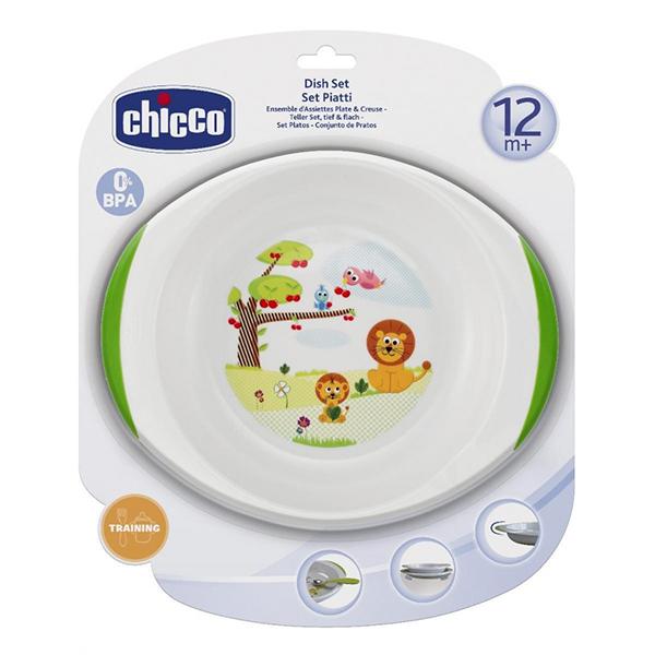 Посуда Chicco Набор детских тарелок