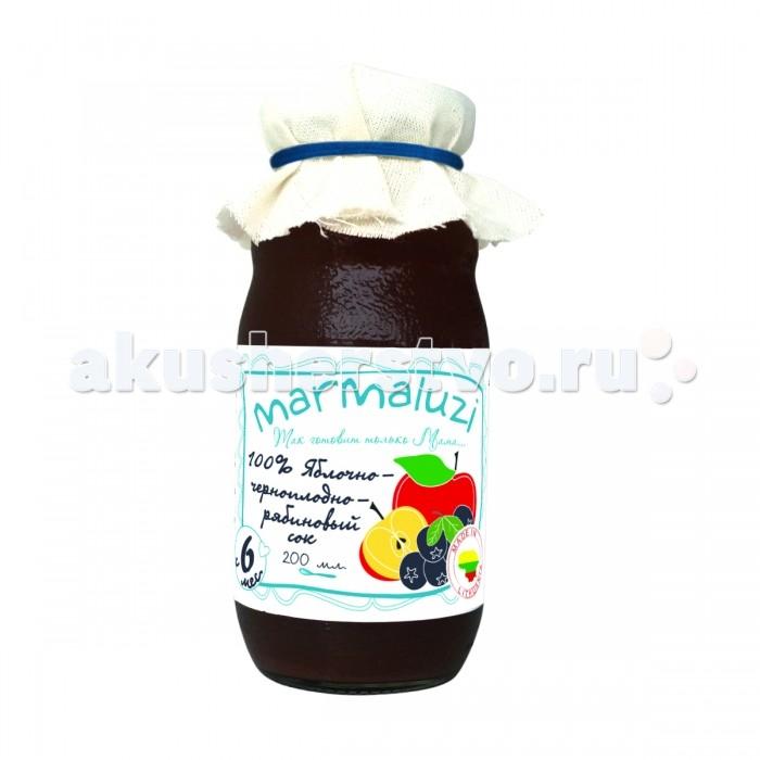 Marmaluzi Сок Яблочно-черноплодно-рябиновый с 6 мес. 200 мл