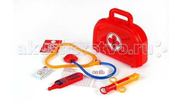 Klein Набор доктора в красном чемоданчике с рецептамиНабор доктора в красном чемоданчике с рецептамиKlein Набор доктора в красном чемоданчике с рецептами – это самый миниатюрный сет среди большого медицинского ассортимента бренда.   В чемоданчике вы найдете 4 предмета – стетоскоп, градусник, шприц, коробочку с бинтами, а также бланки рецептов.  Размеры чемоданчика: 21х6.5х17 см.<br>