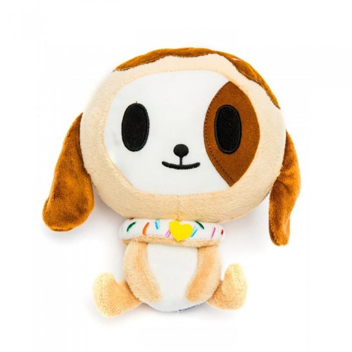 Мягкая игрушка Tokidoki Коллекционная плюшевая DonutinoКоллекционная плюшевая DonutinoМягкая игрушка Tokidoki Коллекционная плюшевая Donutino. Игрушка прибыла с фантастической планеты, где энергию добывают из сахара и разных сладостей. Эта забавная собачка одета в воротник, сделанный из пончика в кавайной глазури, сделана из сверхмягкого флиса.  Симпатичная мордочка и необычные детали придают любимцу особенное очарование.   Игрушка дополнена воротником из пончика в аппетитной глазури.  Высота 18 см<br>