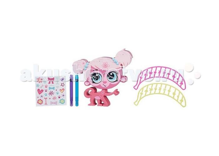 Littlest Pet Shop Shop ОбезьянкаShop ОбезьянкаПитомец Hasbro Littlest PetShop Обезьянка  Теперь Вы можете приобрести зверюшек, и украсить на свое усмотрение.   В комплекте прилагаются аксессуары для преобразования.   Хранить их очень удобно в специальном кармане на игрушке.<br>