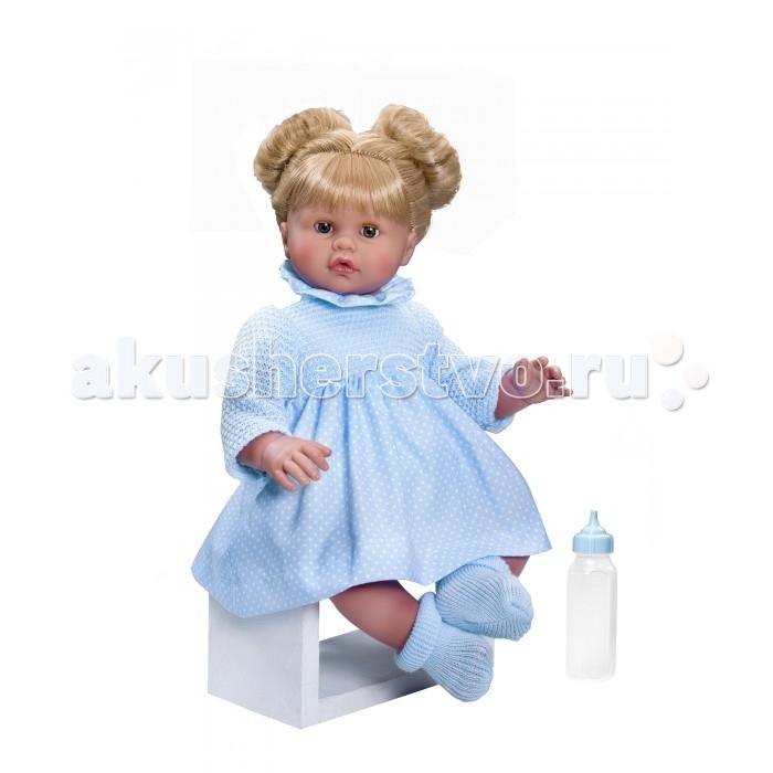 ASI Кукла Хлоя 45 см 2190055Кукла Хлоя 45 см 2190055ASI Кукла Хлоя 45 см 2190055. Большие голубые глаза Хлои не оставят равнодушной ни одну девочку!  В отличии от других куколок ASI, у неё закрываются глазки и есть озвучка.В комплекте бутылочка и красивая подарочная коробка.   У этой куклы тело мягконабивное, голова, руки и ноги из винила, шикарные светлые волосы, собранные в два аккуратных пучка. У нее очень выразительное миловидное личико.Сама куколка выглядит очень по-домашнему, в своем нежно-голубом комбинированном платьице.  Особенности:  кукла ASI сделана очень качественно.  Без запаха.   Используется безопасный твердый винил.  Видна прорисовка мельчайших подробностей тела, рук и ног.<br>