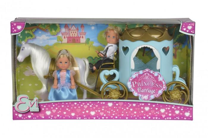 Simba Кукла Еви и Тимми в карете 12 см