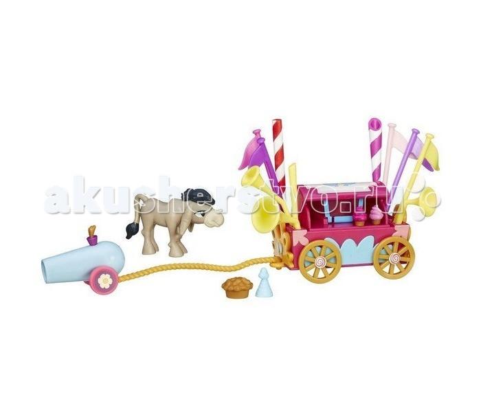 My Little Pony ослик Крэнки Дудлослик Крэнки ДудлИгровой набор Hasbro My Little Pony ослик Крэнки Дудл   Вместе с ослом в коробке вы найдете и его фургон, украшенный флагами и трубами, с пушкой для фейерверков, париком и праздничным колпаком.   Высота ослика: около 4 см<br>