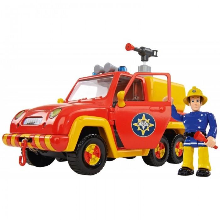 Simba Игровой набор Пожарный Сэм Машина ВенусИгровой набор Пожарный Сэм Машина ВенусSimba Игровой набор Пожарный Сэм Машина Венус со звуком и функцией воды 19 см.  Особенности: Игрушки данного набора исполнены в превосходном качестве, а светящиеся фары и синий предупреждающий огонек на квадрацикле сделает набор еще интереснее для игр. На колесах резиновые шины, а у фигурки пожарника руки, ноги и голова подвижны.  Также он может держать в руках инструменты и свою каску. Это придает реалистичность игрушке и обогащает сюжетно-ролевую игру.<br>