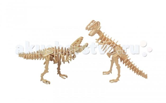 Конструктор МДИ Тиранозавр 2 в 1 61 элементТиранозавр 2 в 1 61 элементМДИ Тиранозавр 2 в 1 61 элемент Ж020                       Из деталей в наборе вы соберете два скелета тиранозавров и сможете устроить невероятные доисторические бои! Модели можно раскрасить и покрыть лаком, придав динозаврам по-настоящему устрашающий вид. Для прочности производитель рекомендует проклеить стыковые элементы деталей клеем ПВА. Во время сборки ребенок сможет улучшить навыки конструирования и развить логическое мышление.<br>