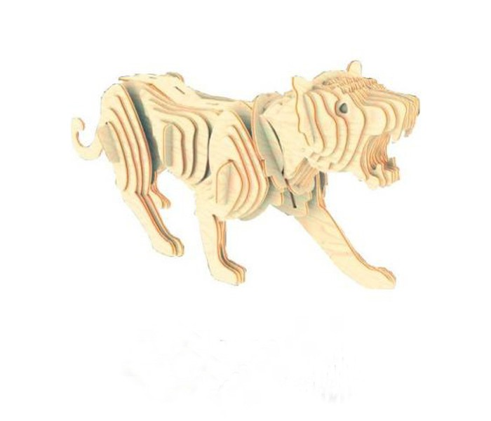 Конструктор МДИ Тигр серия МТигр серия ММДИ Тигр серия М М003                       Тигр - величественное хищное животное, имеющее неповторимый окрас. Набор для склеивания деревянной модели Тигр позволит юному любителю природы из множества деталей собрать фигуру хищника. Детали располагаются в фанерной рамке; их следует выдавить из нее и собрать согласно инструкции. Для того, чтобы собранная фигура животного надолго сохранила целостный вид, необходимо использовать клей в местах соединения деталей. Элементы набора изготовлены из дерева без каких-либо пропиток и красителей, это позволит окрасить собранную фигуру тигра красками или фломастерами. Процесс сборки модели Тигр отлично развивает логическое мышление, тренирует память и внимание.<br>