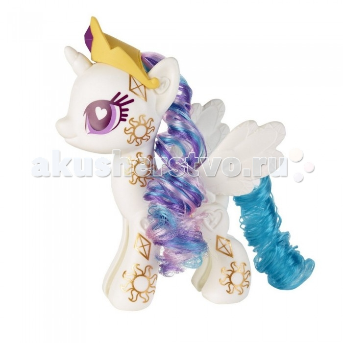 My Little Pony Pop Принцесса СелестияPop Принцесса СелестияИгровой набор Hasbro My Little Pony Pop Принцесса Селестия   В набор входят элементы фигурки пони Принцессы Селестии - 2 детали туловища, 2 гривы, 2 хвостика, крылья и маркер, а также лист с наклейками, которыми малышка сможет украсить пони по своему вкусу.   Все элементы набора выполнены из прочного безопасного пластика. Они легко соединяются друг с другом, и собрать пони не составит труда.   Высота пони: 13 см<br>