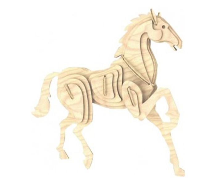 Конструктор МДИ Лошадь серия МЛошадь серия ММДИ Лошадь серия М М023                       Сборная деревянная модель Лошадь является хорошей развивающей игрушкой.  Покажите готовую картинку животного и приступайте к сборке модели. Здесь используется экологически чистая древесина, которая безопасна для здоровья. Работа со сборкой игрушки развивает внимательность, терпение и воображение.  Благодаря работе со сборкой игрушечной лошади ребенок сможет понять, что результат - это поэтапная планомерная работа. Большим плюсом для развития ребенка будет совместная работа со взрослым и проговаривание каждого этапа работы. В инструкции можно найти подробное описание сборки, а готовую лошадь можно дополнительно покрасить или покрыть лаком (краски, лак, кисти в наборе не представлены).<br>