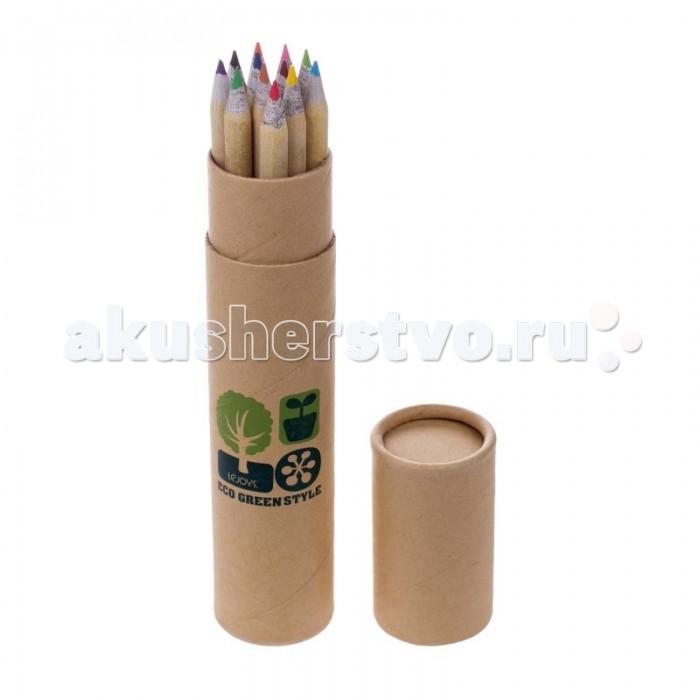 Lejoys Набор цветных карандашей в тубе из крафт-бумаги (12 карандашей)Набор цветных карандашей в тубе из крафт-бумаги (12 карандашей)Цветные карандаши вечно теряются в самый неподходящий момент. Однако, с таким удобным пеналом этого не произойдет. Все 12 цветных карандашей будут надежно храниться в жестком пенале-тубусе из крафт-бумаги, который отлично защитит их от повреждения. Корпуса карандашей изготовлены из переработанного сырья и отвечают всем принципам экологичности. Набору цветных карандашей в пенале-тубусе будут рады и взрослые, и дети.  Основные характеристики:  Размеры: 3.5 х 18 см<br>
