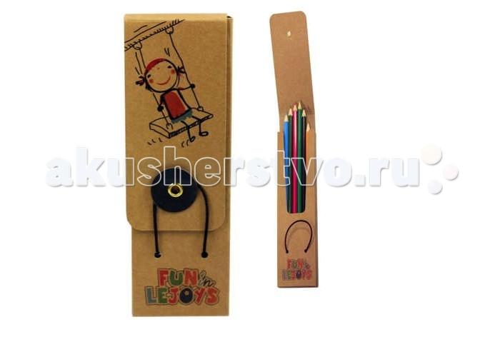 Lejoys Набор цветных карандашей Recycled в пенале из крафт-бумаги (24 шт.)