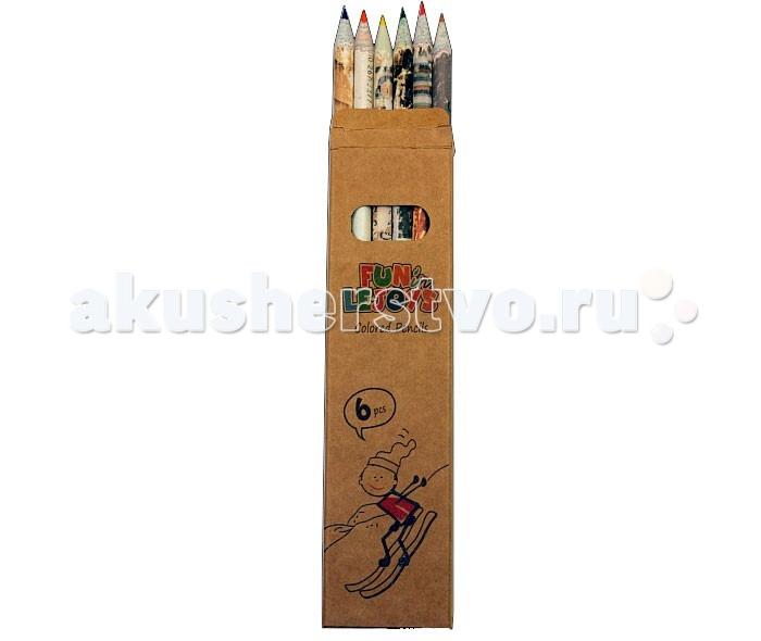 Lejoys Набор цветных карандашей Recycled (6 шт.)