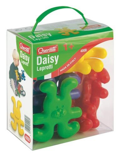 Конструктор Quercetti ЗайчикиЗайчикиИнтересный конструктор в виде Зайчиков от фирмы Quercetti, позволяет развивать мелкую моторику, координацию и фантазию. Эти забавные животные могут становиться в цепочку, могут встать в кружечек, а также в любую другую фигуру, которую сможет придумать ваш малыш. Также ими можно играть как отдельными игрушками, например, как большое семейство зайчиков, состоящее из 8 животных. Интересно, что зайчики цепляются друг к другу любыми конечностями - ручками, ножками и даже ушками! Их легко соединить простым нажатием.   Размер зайчиков в 10 см подобран таким образом, чтобы малышу было удобно их держать и играть с ними, и при этом нельзя было ими играть небезопасно. Также на безопасность направлен и экологичный материал, из которого выполнен конструктор.<br>