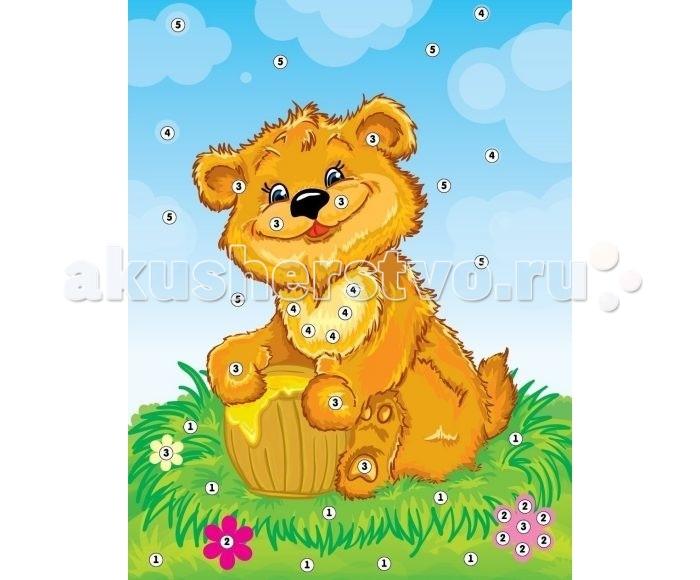 Color Puppy Набор для творчества. Аппликация Мишка - сладкоежка 635155
