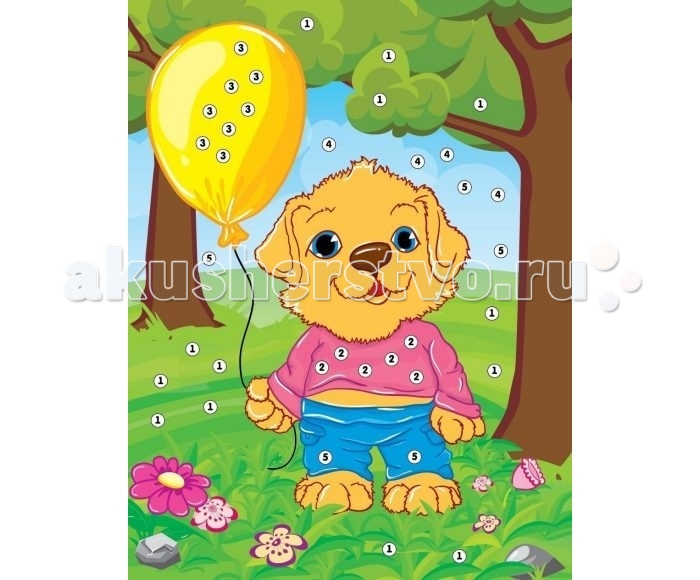 Color Puppy Набор для творчества Аппликация Собачка на прогулке 635156
