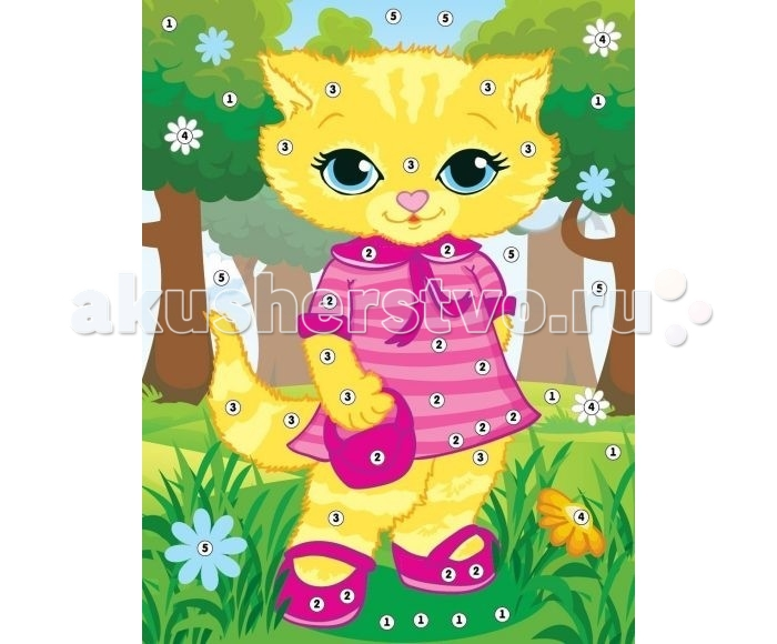 Color Puppy Набор для творчества Аппликация Кошечка - модница 635158
