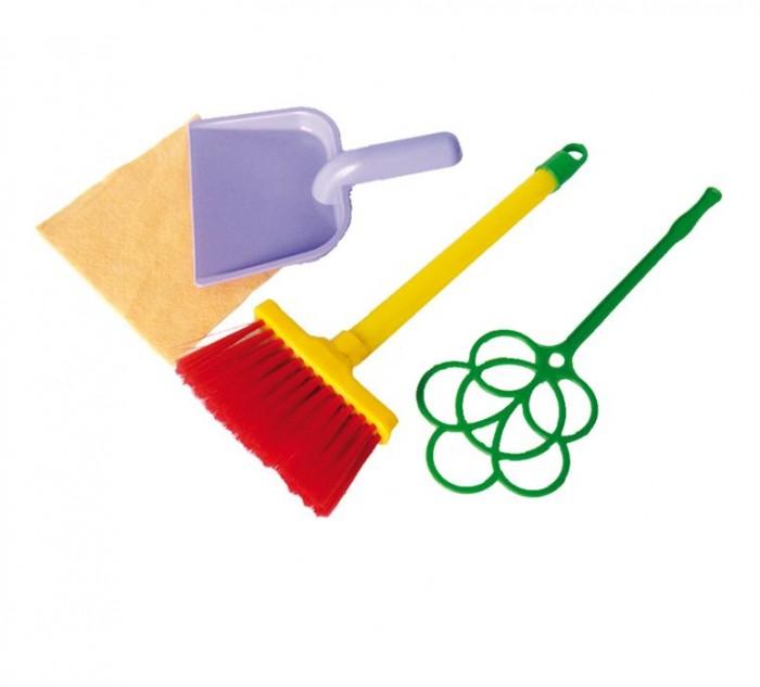 Совтехстром Набор Золушка №1Набор Золушка №1Совтехстром Набор Золушка №1 состоит из щетки, совка, выбивалки и салфетки, с помощью которых ребенок сможет играть и делать уборку одновременно.   Четыре разноцветные игрушки, копирующие настоящие предметы домашнего обихода, будут хорошо смотреться в игровой палатке или домика.   Все предметы изготовлены из высококачественного пластика и безопасны для здоровья.<br>