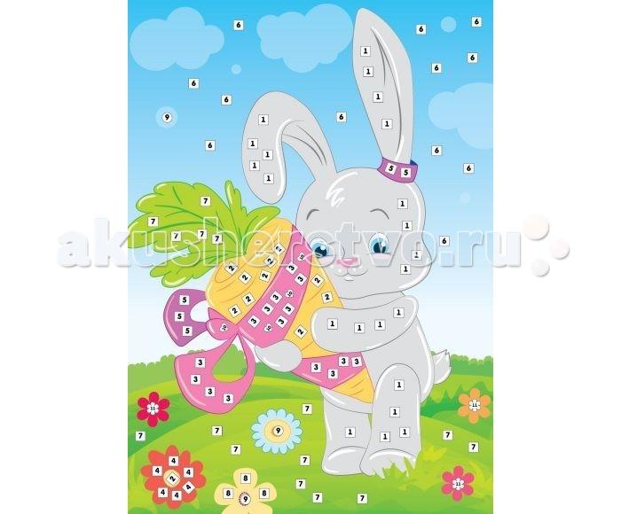 Color Puppy Набор для творчества Аппликация Зайка и морковка 635167