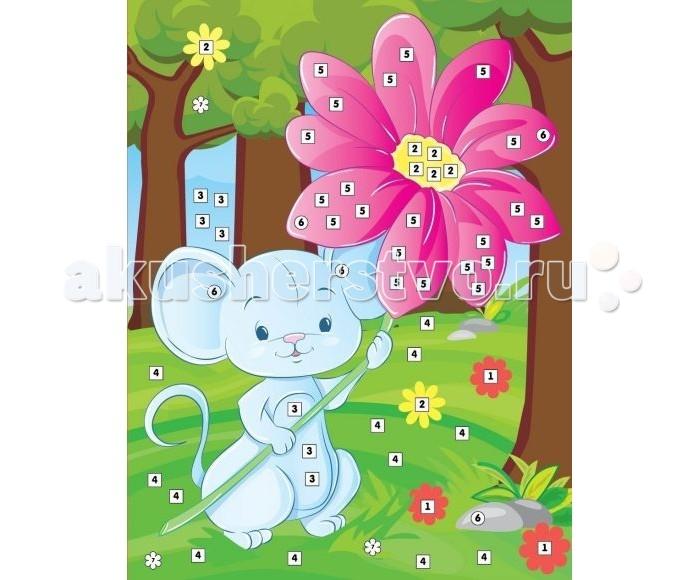 Color Puppy Набор для творчества Аппликация Мышонок с цветком 635170