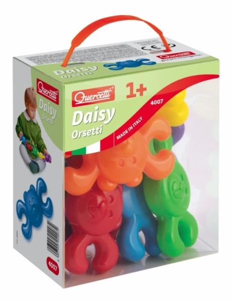 Конструктор Quercetti Мишки (8 элементов)Мишки (8 элементов)Забавный конструктор в виде Мишек, который можно составиться цепочкой, от фирмы Quercetti, развлечет и обучит вашего малыша. Поскольку все детали конструктора выполнены из легкого высококачественного пластика, то им будет приятно играть. Помимо этого игрушка легко моется, что отвечает всем требованиям, предъявляемым к игрушкам для малышей.   Конструктор-цепочка позволит ребенку узнать больше о цветах, взаимодействии предметов, улучшит мелкую моторику и координацию движения. Малыш сможет долго играть с Мишками, и это будет всегда интересная увлекательная игра.<br>