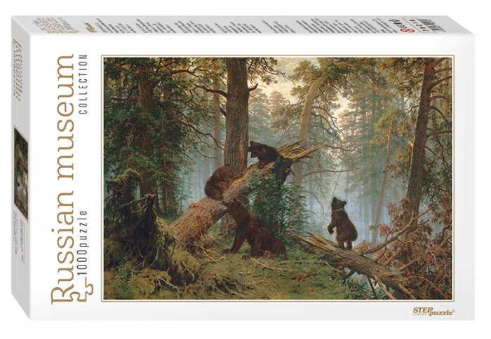 Step Puzzle Пазл Утро в сосновом лесу 1000 элементовПазл Утро в сосновом лесу 1000 элементовStep Puzzle Пазл Утро в сосновом лесу 1000 элементов  Пазл Утро в сосновом лесу от компании Step Puzzle собирается в цветную картинку, на которой изображена медведица, гуляющая с своими детенышами в чаще дикого леса. Элементы головоломки имеют оригинальную форму и легко соединяются в нужном порядке, а после завершения увлекательного процесса их можно разъединить и начать все заново.  Возраст: от 7 лет Количество деталей: 1000 шт. Размер собранного изображения: 68 х 48 см<br>