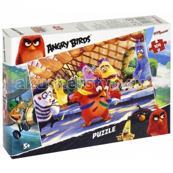 Step Puzzle Пазл Angry Birds 104 элемента