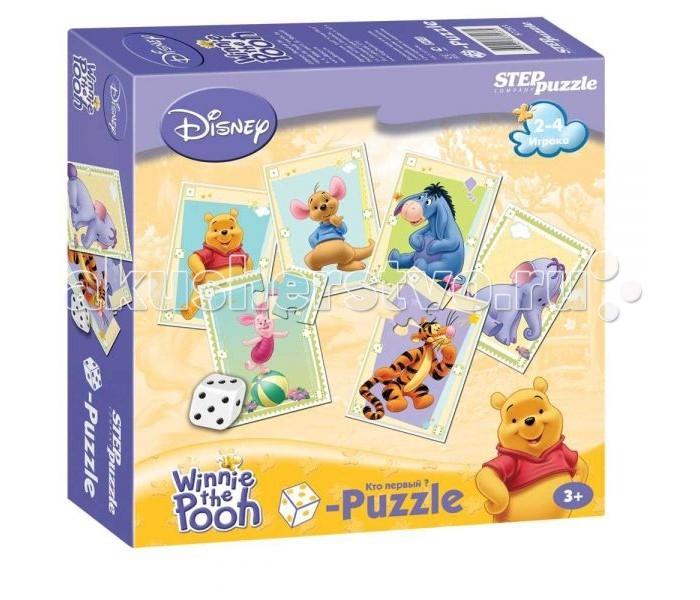 Step Puzzle Настольная игра Кубик-пазл Медвежонок Винни-ПухНастольная игра Кубик-пазл Медвежонок Винни-ПухStep Puzzle Настольная игра Кубик-пазл Медвежонок Винни-Пух  Настольная игра медвежонок Винни из серии Кубик - Puzzle порадует ребенка известными персонажами Диснея. Персонажи будут изображены на маленьких карточках, каждую из которых предстоит собрать. Собирать пазл надо будет быстрее всех, но при этом пользоваться игральным кубиком. Все карточки в наборе сделаны из плотного картона. Игра обязательно привлечет к себе внимание своими яркими картинками.  Возраст: от 3 лет Количество деталей: 36 шт. Комплект: 6 пазлов по 6 элементов, игральный кубик. Количество предполагаемых игроков: 2-4.<br>